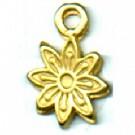 tinhangers 12mm goud bloem tin