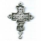 tinhangers 49mm oudzilver kruis tin