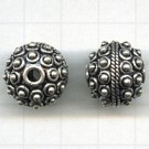 tinkralen 16mm oudzilver rond