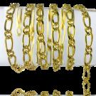 Top schakel ketting nikkelvrij 10mm x 5mm goud