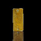 tussenzetsels hanger 20mm goud rechthoek
