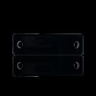 tussenzetsels 40mm zwart rechthoek