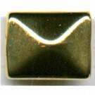 kunststof kralen 17mm goud rechthoek
