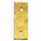 tussenzetsels 40mm goud rechthoek leer kleurnummer 122