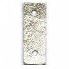 tussenzetsels 40mm zilver rechthoek leer