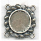 tussenzetsels 10mm oudzilver rond