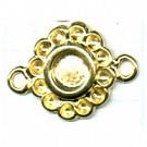 tussenzetsels 8mm goud bloem