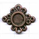 tussenzetsels 23mm brons bloem