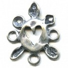 tussenzetsels 28mm oudzilver rond