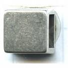 schuiver 6mm oudzilver vierkant tin