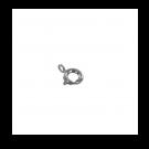 Veerringsluiting rond 6mm zilver