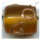 glaskralen 10mm bruin cilinder