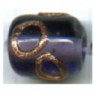 glaskralen 10mm paars cilinder kleurnummer 2006