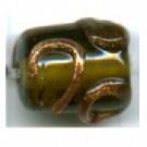 glaskralen 10mm groen cilinder
