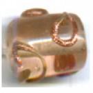 glaskralen 10mm roze cilinder