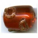 glaskralen 10mm oranje cilinder