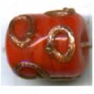 glaskralen 10mm rood cilinder