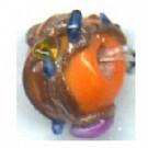glaskralen 6mm oranje rond kleurnummer 9314