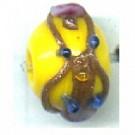 glaskralen 8mm geel rond kleurnummer 1032