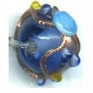 glaskralen 8mm blauw rond kleurnummer 1375