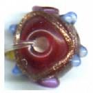 glaskralen 8mm rood rond kleurnummer 2265
