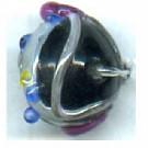 glaskralen 8mm zwart rond kleurnummer 3213