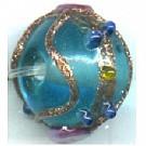 glaskralen 10mm blauw rond kleurnummer 1877