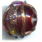 glaskralen 10mm rood rond kleurnummer 2265