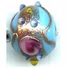glaskralen 10mm blauw rond kleurnummer 306