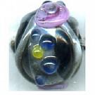 glaskralen 10mm zwart rond kleurnummer 3213