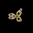 Vergulde metalen carabinersluitingen 11mm