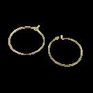Vergulde oorbellen oorringen rond 30mm