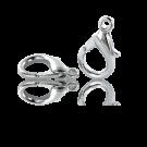 Verzilverde metalen carabinersluitingen 20mm