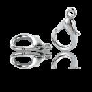 Verzilverde metalen carabinersluitingen 23mm