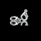 Verzilverde metalen carabinersluitingen 12mm
