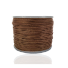 Waxkoord 0,5mm katoen bruin rond