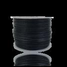 Waxkoord 0,5mm katoen zwart rond