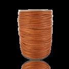 Waxkoord 1mm katoen terracotta bruin rond