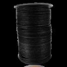 Waxkoord 2mm katoen zwart rond