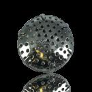 broches zeef 25mm zilver rond metaal