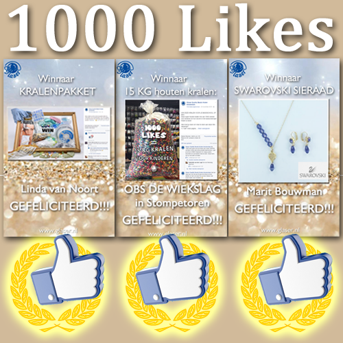 1000 Likes Prijsuitreiking Winacties