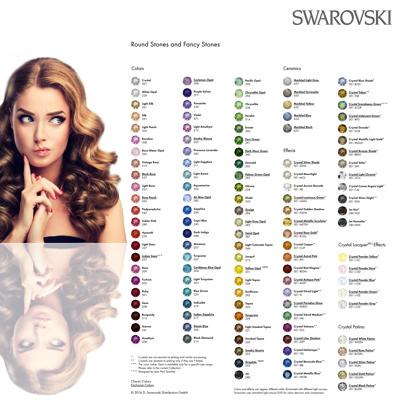 Kleurenkaart Swarovski Fancy Stones