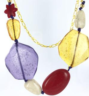 Nieuwe sieraden inspiratie ketting met grote kralen