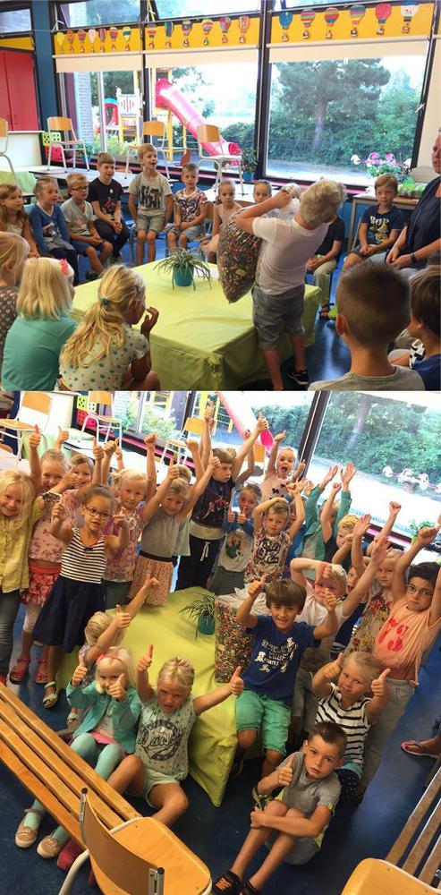 kinderen nemen prijs in ontvangst kralen voor kinderen