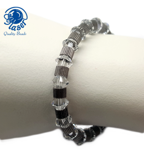 Simpele armband met Swarovski kralen