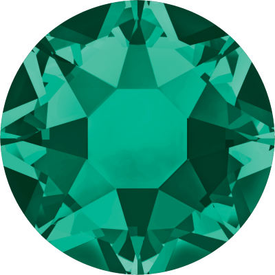 Swarovski Flat Backs Hotfix 2078 SS20 Emerald 205