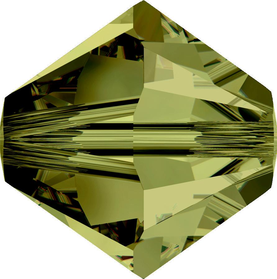 Swarovski Beads 5328 5mm XILION Bicone Olivine