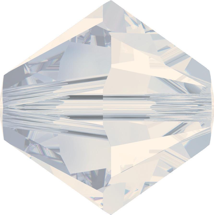 Swarovski Beads 5328 5mm XILION Bicone White Opal