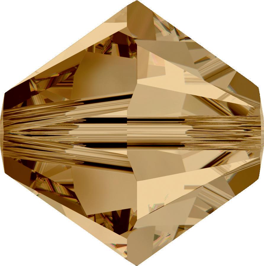 Swarovski Beads 5328 5mm XILION Bicone Light Colorado Topaz