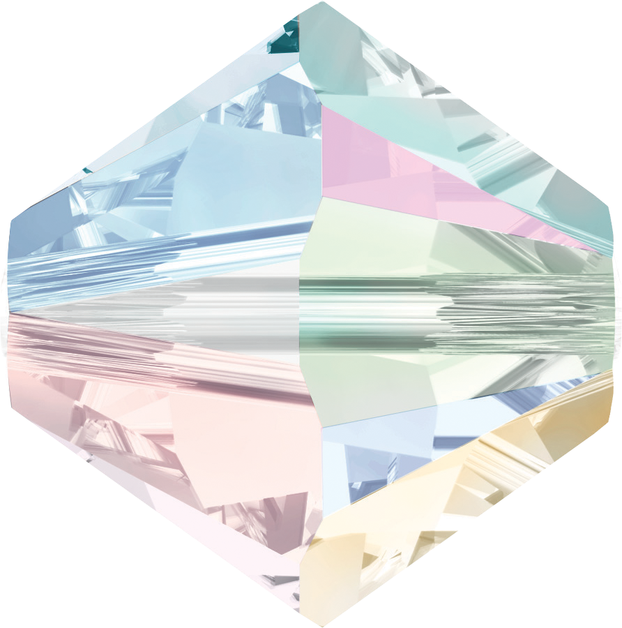 Swarovski Beads 5328 6mm XILION Bicone Crystal Aurore Boreale